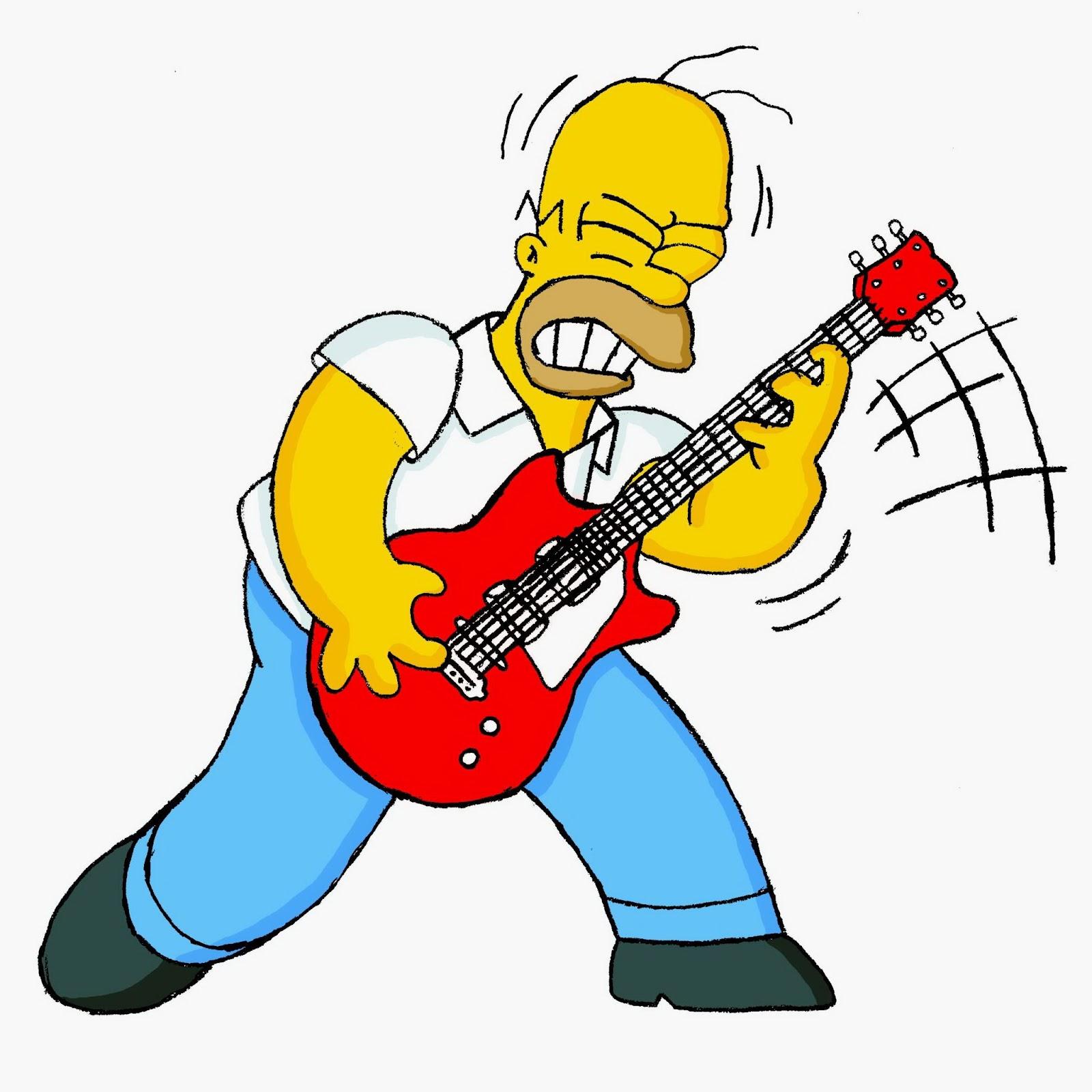 Homer rockero