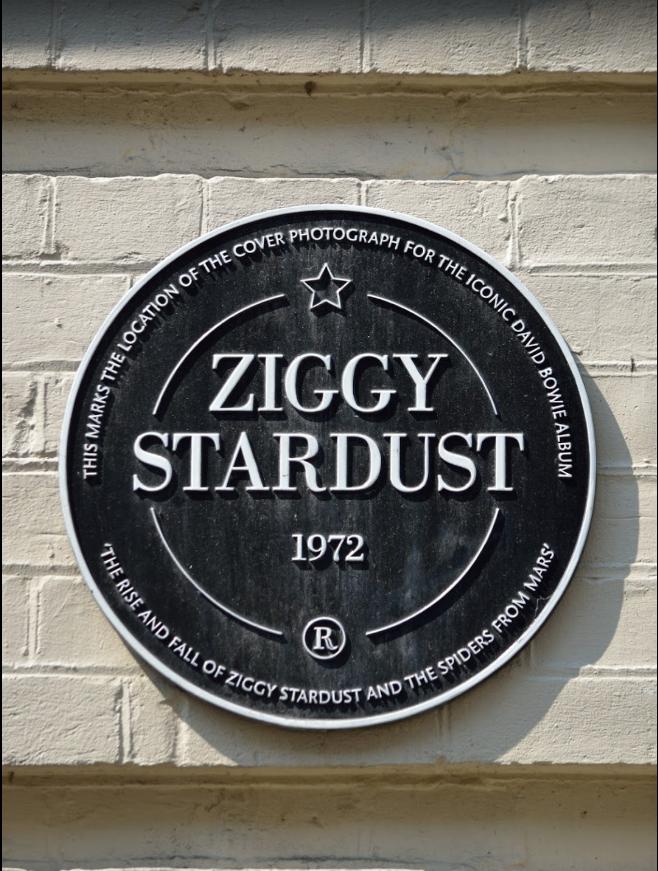 Ziggy Stardust placa