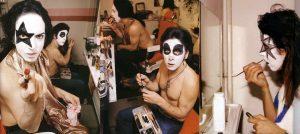 Kiss maquillandose 1974
