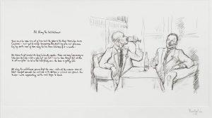 Dibujo y letra manuscrita de All Along de Watchtower